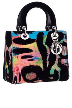 Lady Dior Bags' Art Meetings In the eyes of seven different artists. Dior's Lady Di model, produced in 1995 and iconic in 1996 by Dior Handbags, New Handbags, My Bags, Purses And Bags, Sac Lady Dior, Christian Dior Bags, Painted Bags, Classic Handbags, Cute Bags