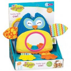 Hooty Toot Owl Soft Baby Toy $11.97 The newly added Earlyears' Hooty Toot Bouncy Owl baby toy features colorful patterns, multiple textures and adorable design to entertain your baby at home or on-the-go. http://www.educationaltoysplanet.com/hooty-toot-owl-soft-baby-toy.html
