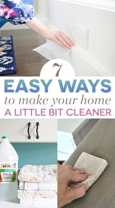 7 Easy Ways To Make Your Home A Little Bit Cleaner This Week