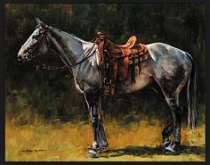 Ned Jacob Painting the horse from life