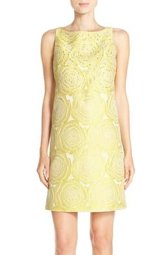 Adrianna Papell Beaded Jacquard Shift Dress available at #Nordstrom
