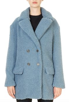 This teddy coat from Rino & Pelle is in a beautiful soft mirage blue colour, and is a length and has a rever collar Double breasted button Teddy Coat, Winter Coats Women, Faux Fur Jacket, Double Breasted, Jackets, Blue, Neck Collar, Clothes, Shopping