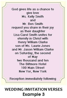 1000 Images About Christian Wedding Invitation Wording On Pinterest