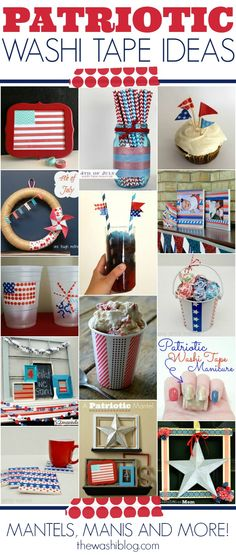 Perfect for Veteran's Day! Patriotic Washi Tape Ideas; for more washi projects and inspiration visit thewashiblog.com | #washi #washitape #patriotic