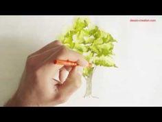 Tuto vidéo : Réalisation d'un arbre à l'aquarelle par Léo Dessin | l'Atelier Géant