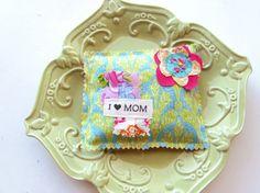 Mother's Day pillow Lavender sachet I love Mom by Itsewbella, $7.00