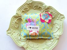 Mother's Day pillow Lavender sachet I love Mom by Itsewbella, $7.00
