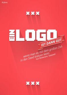 Wie wahr! Logodesign www.aclewe.de #aclewe #logo #design #agentur #agency