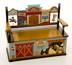 Wild West Bench Seat with Storage by Levels of Discovery - Cowboy Western Toy Box