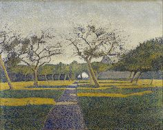 (1854-1930) File:Alfred William Finch - Orchard at La Louvière - Google Art Project.jpg
