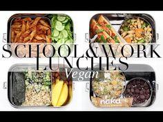 Vegan School & Work Lunch Ideas #2 | JessBeautician - YouTube