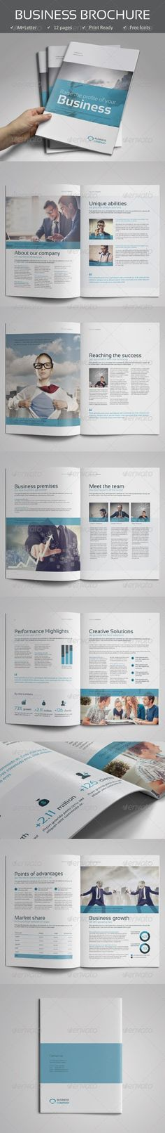 Corporate Business Brochure vol.1 — InDesign INDD #simple #professional • Available here → https://graphicriver.net/item/corporate-business-brochure-vol1/7805534?ref=pxcr