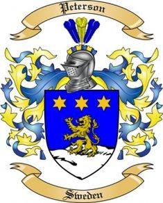Peterson Family Crest from Sweden2