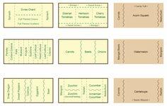 Companion Planting Chart, Map, and Guide Companion Gardening Map & Chart Veg Garden, Edible Garden, Garden Plants, Vegetable Gardening, Planting Vegetables, Planting Plants, Veggie Gardens, Garden Planting Layout, Potager Garden