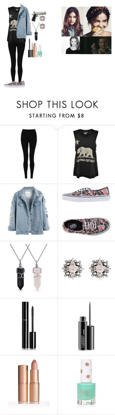 """Private supernatural roleplay"" by gglloyd ❤ liked on Polyvore featuring M&S Collection, Rebel Yell, Vans, Bling Jewelry, DANNIJO, Chanel, MAC Cosmetics and Topshop"