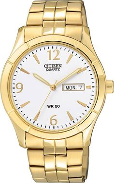 watch citizen eco drive ladies oval white dial rose gold case watch citizen stainless steel yellow gold plated case and bracelet round white dial day