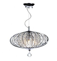 Polished Chrome finishCrystal decorationFitting requires an earth connection3 x 40W SES Candle Lamps…