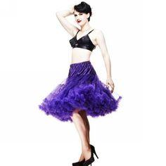20 Colors 65cm Soft Fabric Women Pettiskirt Long Sexy Pleated Chiffon Petticoat Rockabilly skirt Tulle Tutu Lady Pettiskirt