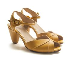 New! yellow Grace Sandals, Handmade Leather shoes, Women heels sandals free shiping