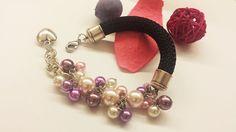 Bracciale corda e perle : Braccialetti di anormal-handmade