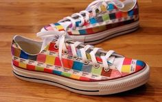 Pantone chip sneakers made with Craft Attitude film!