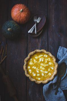 Kabocha Pumpkin Buttermilk Pie with a Crème Fraîche Swirl {Gluten-Free} | The Bojon Gourmet