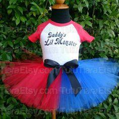 Girls Harley Quinn Suicide Squad Tutu Costume Set w/ by TutuTiara