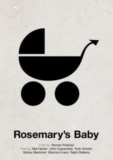 Fabulous Piktogramm Filmposter ROSEMARY uS BABY