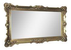 Rococo Style Gold Composition Mirror on Chairish.com