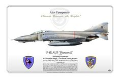 """F-4E AUP """"Phantom II""""   HAF    Hellenic Air Force  339 Μοίρα Παντός Καιρού  117th Combat Wing, 339th All Weather Intercept Squadron   Andravida AB    The upgraded HAF F-4Es will be capable of carrying the AIM-120 AMRAAM, for interception and the AGM-65G Maverick and AGM-130, for ground attack and various target identification pods."""