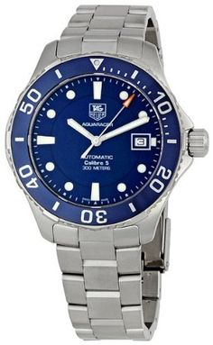 Shop for Stuhrling Original Men's Aquadiver Quartz Stainless Steel Bracelet Watch - silver. Get free delivery On EVERYTHING* Overstock - Your Online Watches Store! Stainless Steel Watch, Stainless Steel Bracelet, Tag Heuer Aquaracer Automatic, Discount Watches, Automatic Watches For Men, Elegant Watches, Omega Seamaster, Casio Watch, Luxury Watches