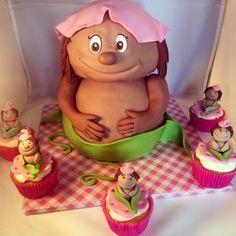 sabsy's cake dreams: Babyshower taart en cupcakes