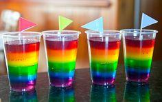 jello rainbows for my little pony birthday