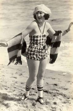 Girl in bathing suit ,1920s