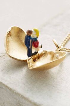 Constance Locket Necklace by Les Nereides | Pinned by topista.com