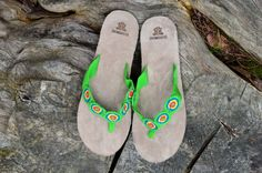 "Typical Wayuu Indian footwear called ""Wayrenas."" Handmade by a member of this tribe with a design called ""Disk"". www.colombiart.co Buy Shoes, Women's Shoes Sandals, Footwear, Indian, Summer, Handmade, Design, Backpack, Hand Made"