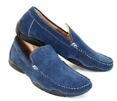 Scans Suede Shoes Loafers Blue