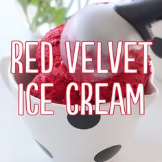 Dreams meet reality with red velvet ice cream.