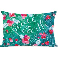 """Peace On Earth"""" Indoor Throw Pillow by Ana Victoria Calderon, 14""""x20"""