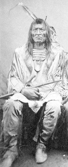 Crow's Breast - Gros Ventre-The people (from French: big belly)also known as the A'ani, A'aninin, Haaninin, and Atsina, are a historically 18th century,  tribe split into two, forming the Gros Ventres and the Arapaho. These, with the Cheyenne, were among the last to migrate into Montana, due to pressure from the Ojibwe. After they migrated to Montana, the Arapaho moved southwards to the Wyoming and Colorado . The Cheyenne who migrated with the Gros Ventre and Arapaho also migrated onwards