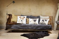 Lovely animal cushions in a cool  setting!