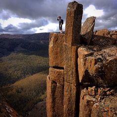 Checking out the views from the Ben Lomond Plateau in North East Tasmania. Find out more about Ben Lomond National Park: http://www.discovertasmania.com.au/about/national-parks-and-wilderness/ben-lomond #benlomond #tasmania #discovertasmania Image Credit: Micah Landon-Lane