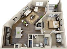 Pin by Maria on 3D House Plans & Floor Plans | Pinterest | Floors ...