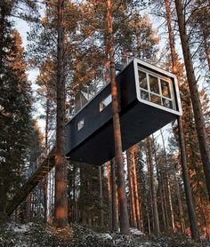 treehotel in north sweden (that looks like a shipping container to meee....)