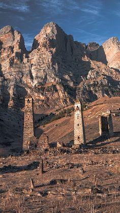 Abandoned medieval watchtowers in North Caucasus republic of Ingushetia (Russia). By Abdullah Bersaev.