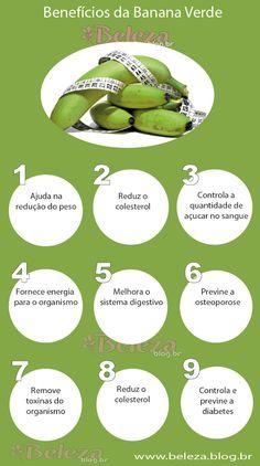 #Fruta ☆ Banana Verde ☆ Benefícios da #BananaVerde