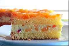 Peach Bavarian Cream Sponge