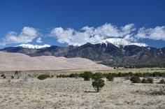 Great Sand Dunes National Park. I climbed one of those. It was hard. I also climbed a mountain that had snow at the top, a few years later.