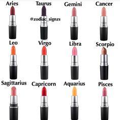 the signs as lipstick! - fav makeup brand? - credit: @zodiac_signzs - #zodiac #zodiacsign #aries #tarsus #gemini #cancer #leo #virgo #libra #scorpio #sagittarius #capricorn #aquarius #pisces