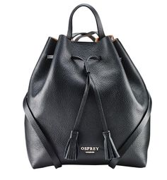 63eff48da94f The Toulon Italian Leather Backpack from OSPREY LONDON has been  handstitched in Soft Italian Calf leather